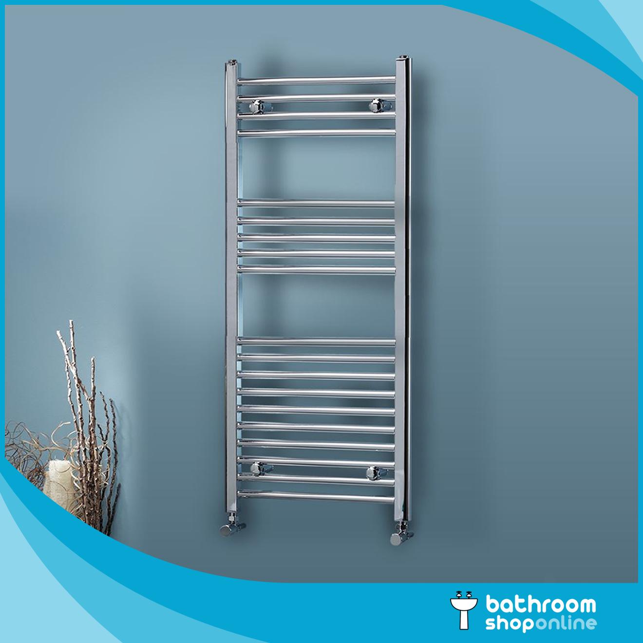 Chrome Heated Towel Rail Rad Radiator Bathroom Central Heating Flat ...
