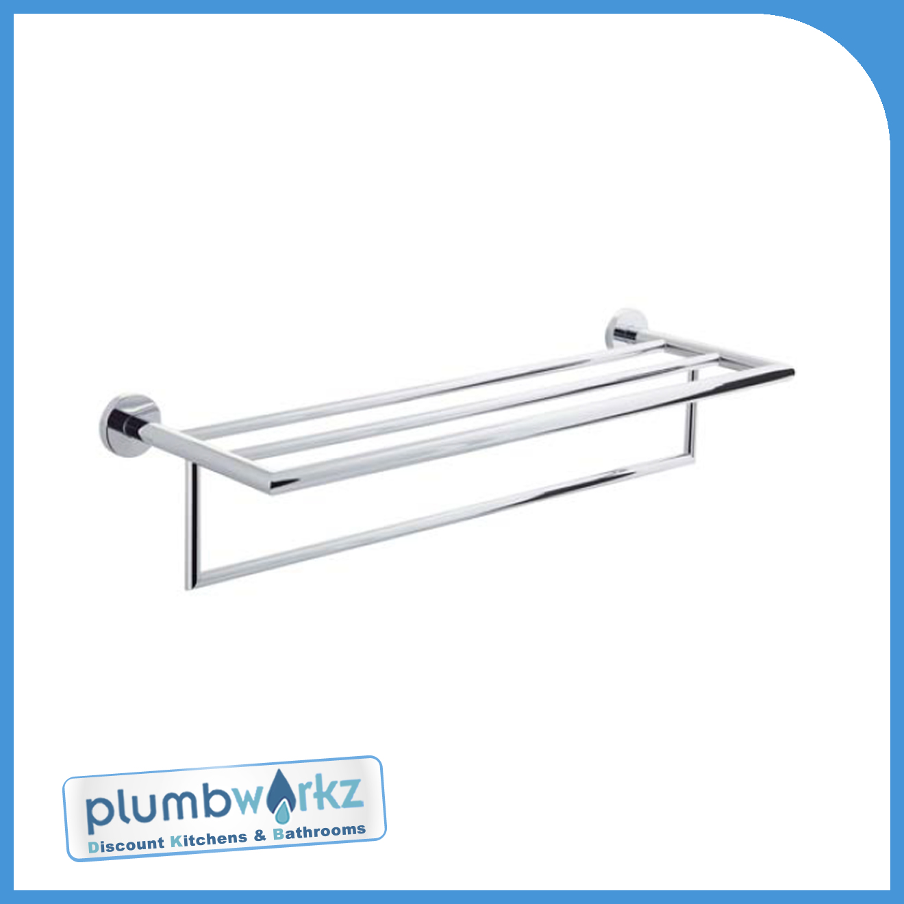 Chrome Bathroom Bath Towel Shelf Accessories Brass Construction Ebay