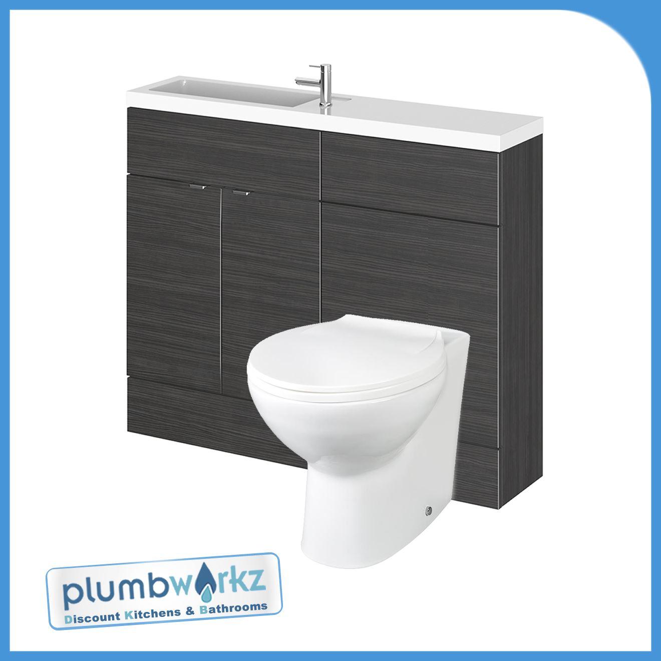 Designer Combi Bathroom Vanity Unit Amp Wc Unit With Basin